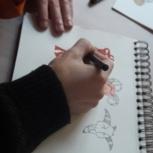 Studiotreffen mit einem der Illustrator(innen) in Berlin