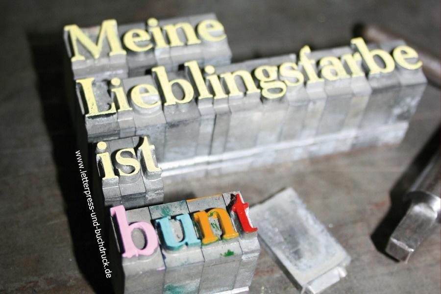 Letterpress Buchdruck Druck Und Kunstwerkstatt
