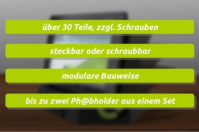 Ph@bholder - der clevere Halter für dein Smartphone, Tablet ...