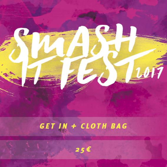 Dein Ticket + Smash It Stoffbeutel