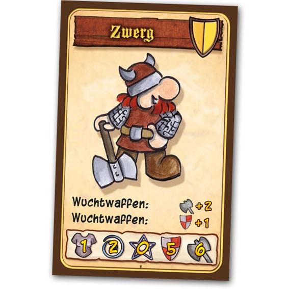 """""""Der Zwerg"""" : Spiel + 5 Lebenspunktemarker + Button + Danke auf der Homepage"""