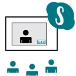 Skype Gespräch mit dem Team