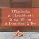 3 Playbacks & 3 Leadsheets & sig. Album & Download & Tee