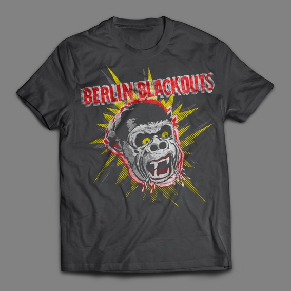 "Berlin Blackouts ""Screaming Gorilla"" T-Shirt"