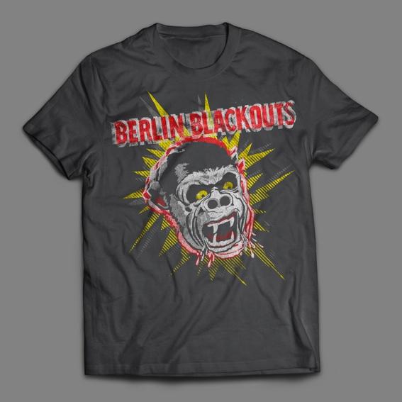 "Berlin Blackouts ""Screaming Gorilla"" T-Shirt"