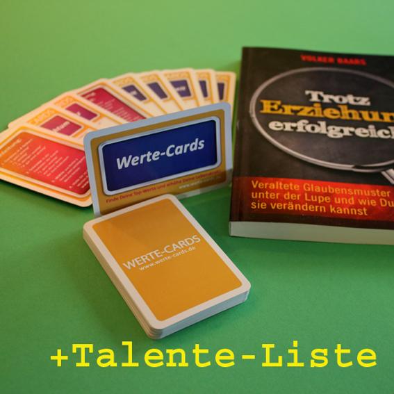 1x Werte-Cards+1 Buch+1x Talente-Liste