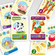 2 x my little English QuartettBOX: animals + fruits/numbers