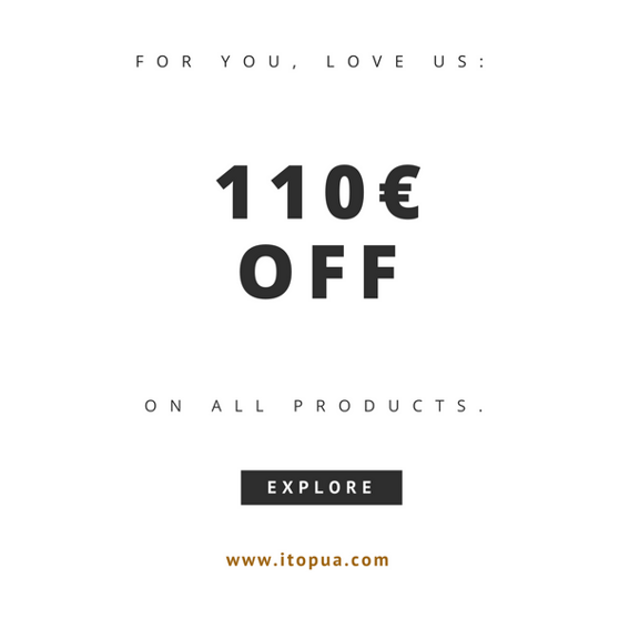 110€ RABATT auf Deinen nächsten Einkauf
