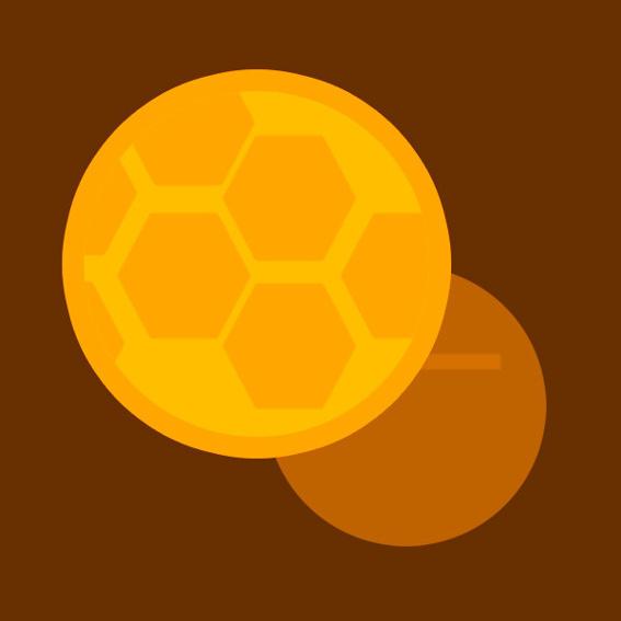 20x Anstecker mit Peace Bees Logo