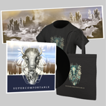 Super-Merch Schallplatte // Vinyl, EP-Download, Beutel, T-Shirt, Poster, Sticker & Buttons