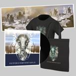 Super-Merch Schallplatte // Vinyl, EP-Download, Beutel, T-Shirt, Poster, Sticker & Buttons