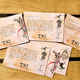 6 TNI Postkarten