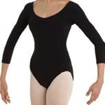 Ballett-Trikot / Ballett Body für Erwachsene in schwarz