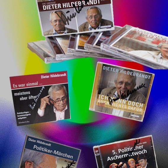 CD-Sammlung Dieter Hildebrandt - handsigniert - leider nur 1 mal zu haben...