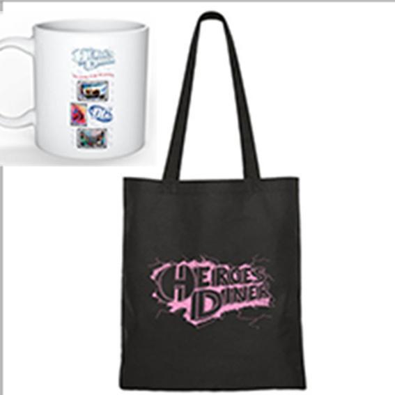 Tasche + Tasse von Heroes Diner