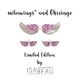 milouwings® Sneakerflügel UND Ohrringe Pink I Limited Edition by Isabeau - Early Bird