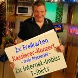 2 Karten für DIE KASSIERER + 2 signierte T-Shirts