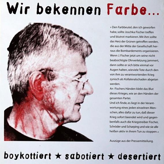 """Exklusiv-Plakat """"Mobilisierung und Solidarisierung zum Prozess des Farbbeutelwurfs"""""""