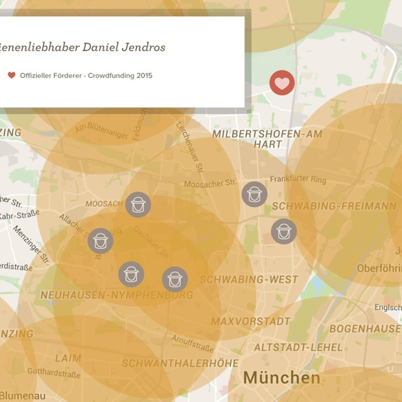 Werde Bienenkönig/in deiner Stadt - Map of Generosity
