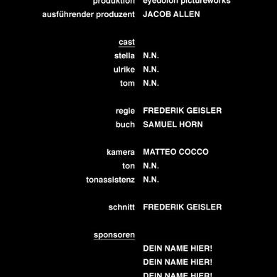 Dein Name Im Abspann Stella Ein Kurzspielfilm
