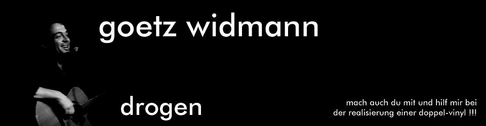 """GÖTZ WIDMANN Das legendäre Album """"DROGEN"""" als Doppel Vinyl LP"""