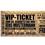 Zwei VIP -Tickets mit Zugang zur Gästelounge