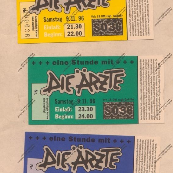"""""""Ich war dabei Paket"""": Eine Stunde mit Die Ärzte 1996 Tickets"""