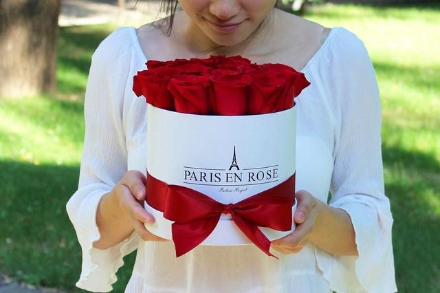 Rosenboxen - natürliche Rosen bis 3 Jahre haltbar