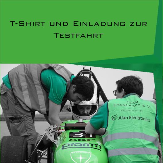 T-shirt + Einladung zu einer Testfahrt