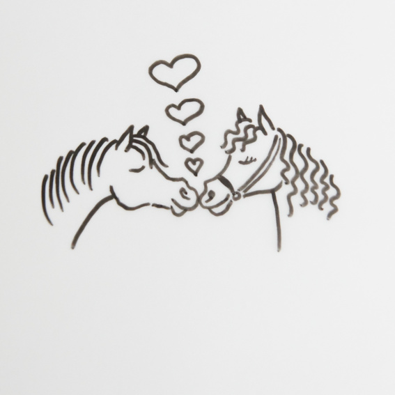 Signed horse drawing