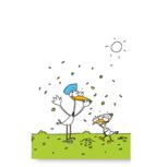 Individuelle Storchen-Grußarte für Waisenkinder