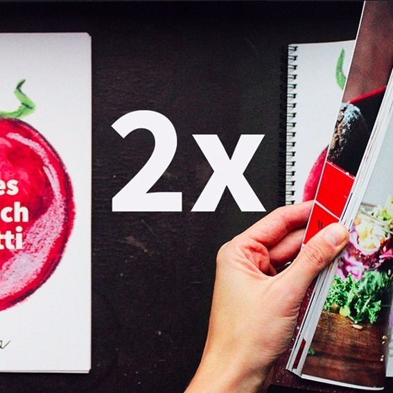 2 individuelle Kochbücher