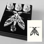 White Fuzz Moth Edition mit signierter Postkarte