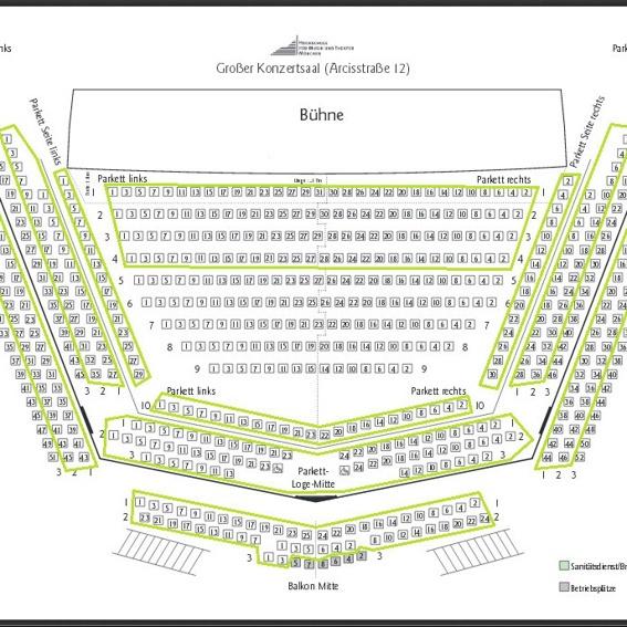 10-Personen-Platzgarantie für das geplante Konzert