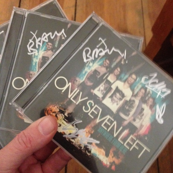 """Signierte CD """"Anywhere From Here"""" ONLY SEVEN LEFT"""