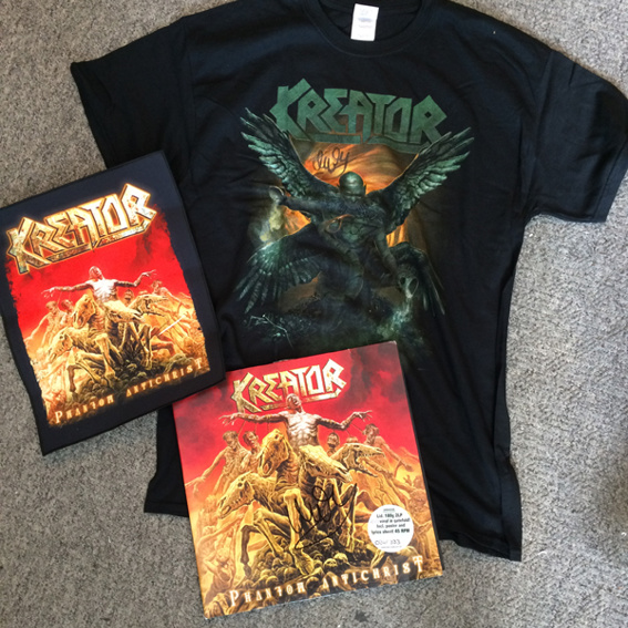 Signiertes KREATOR Fan Package - Shirt, Vinyl LP, Backpatch