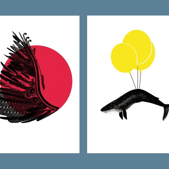 Zwei Postkarten