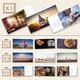 Klappkarten PANORAMA - Set K1 bis K4: Drei liebevoll gestaltete Klappkarten mit Zitaten & Bildern aus dem Buch