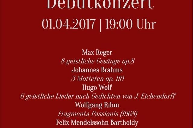Max-Reger-Chor Berlin Debütkonzert