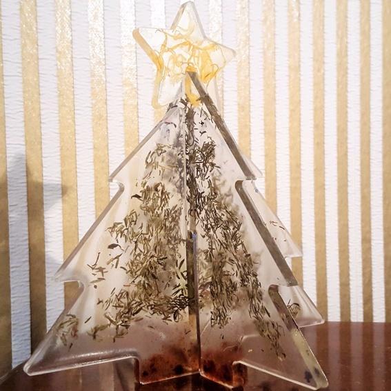 Tannenbaum Steckdeko aus Gießharz