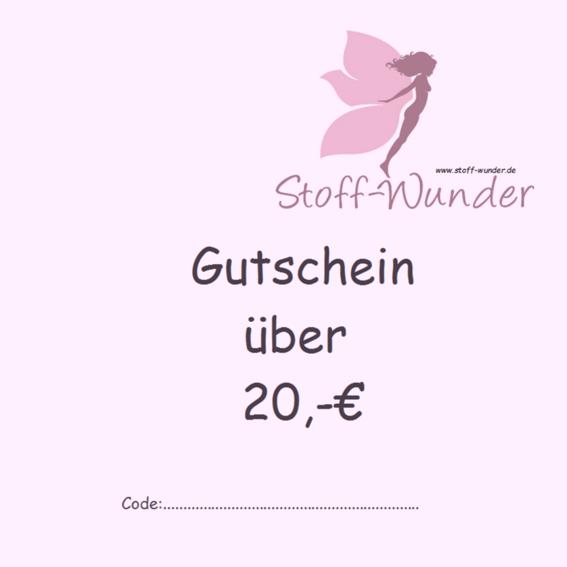 Gutschein über 20,-€