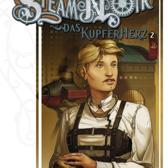 """Zusätzlich """"Steam Noir - Das Kupferherz"""", Bd. 2, signiert  - 16,80 Euro mit 2,80 Euro Rabatt aufs Spiel"""