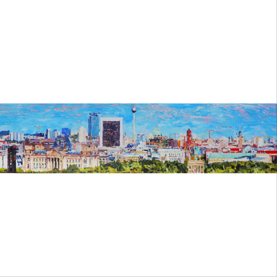 Leinwanddruck Panorama Berlin