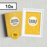 10-er Set: 10 Hardcover-Kochbücher inkl. 10 Aufkleber und 10 Urkunden
