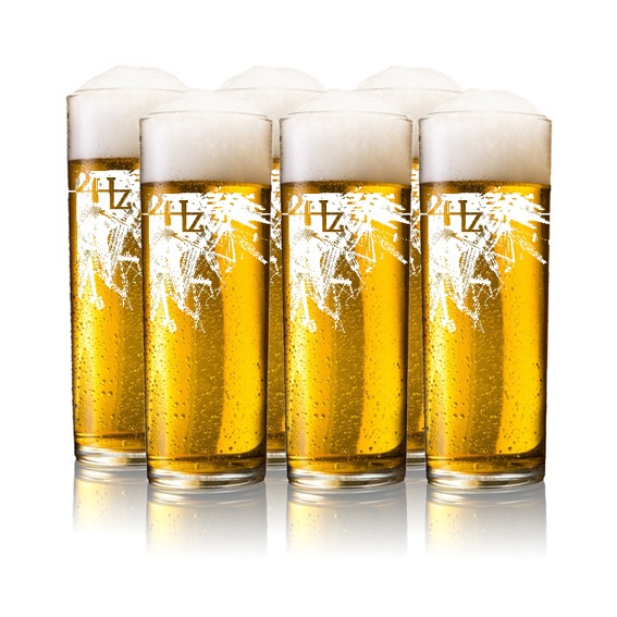 6 pack 24Hz beer glasses
