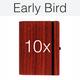 10 x Padouk - inkl. Logo oder Individualisierung, Weihnachtsgarantie