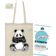 BAOWOW Hydration panda shopping bag with a trial pack: