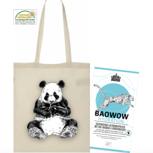 Panda Shopper Bag mit einer Probierpackung BAOWOW Hydration: