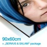 """LIMITIERTER PHOTOABZUG DEINER WAHL (90x60) + DAS """"SERVUS & SALAM"""" PAKET"""