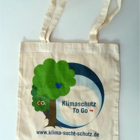 """""""Klimaschutz to go""""-Stoffbeutel"""